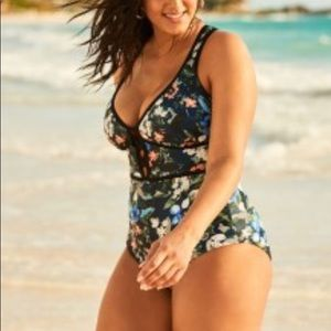 Adore Me Floral Sexy One Piece BNWT